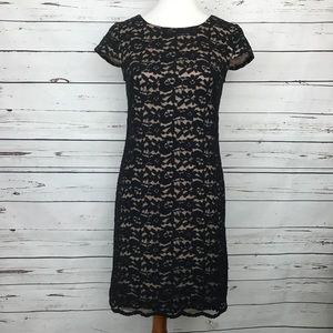Ivy + Blu Lace Dress Short Sleeve Navy Size 4
